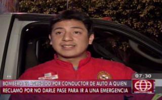 La Molina: bombero agredido por sujetos que no le dieron pase