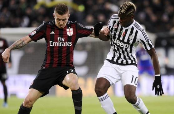 Juventus venció 1-0 al AC Milan por el clásico italiano