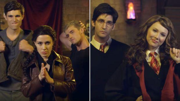 """""""Katniss Everdeen"""" y """"Hermione Granger"""" se atacan cantando rap"""