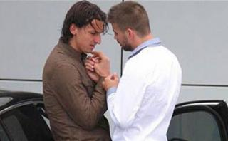 Gerard Piqué aclaró polémica foto con Zlatan Ibrahimovic