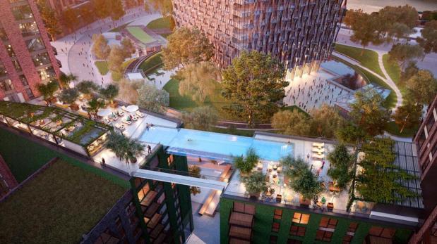 La primera piscina construida en el aire estará en Londres