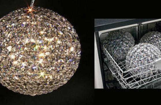 Esta lámpara de cristal la puedes lavar en tu lavavajilla