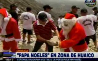 Chosica: 'Papá Noeles' ayudaron a limpiar quebradas [VIDEO]