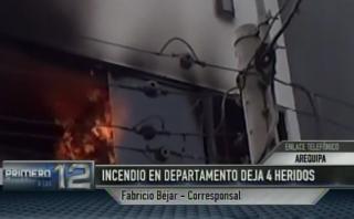 Arequipa: 4 heridos por incendio ocasionado por luces navideñas