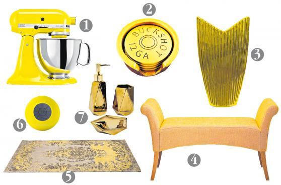 Objetos de deseo amarillos y dorados para lucir en Año Nuevo