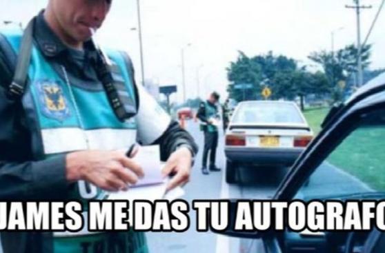 Los memes de James Rodríguez y la persecución de la policía