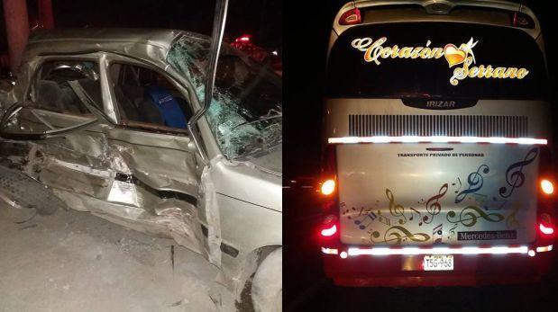 Corazón Serrano: fiscalía pide GPS del bus que chocó con auto