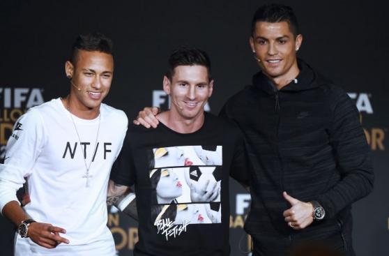 Cristiano Ronaldo y Lionel Messi cruzaron miradas en la previa