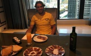 Rafael Nadal y un suculento desayuno antes del Australian Open