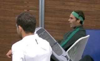 La 'locura' de Federer al observar punto de Sharapova [VIDEO]