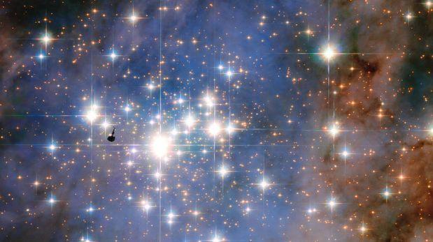 NASA: imagen muestra las estrellas más brillantes de la galaxia