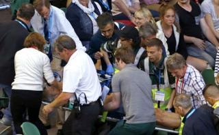El suegro de Andy Murray se desvaneció en el Australian Open