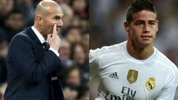 Zinedine Zidane habló sobre la suplencia de James Rodríguez