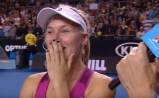 Tenista rusa provocó risas por insólita respuesta en inglés