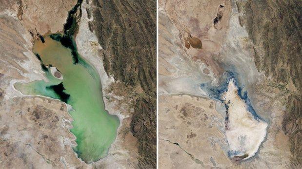 La NASA muestra cómo fue secándose el lago boliviano Poopó