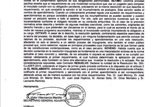 Universitario jugará la Copa Sudamericana tras fallo de la CJ