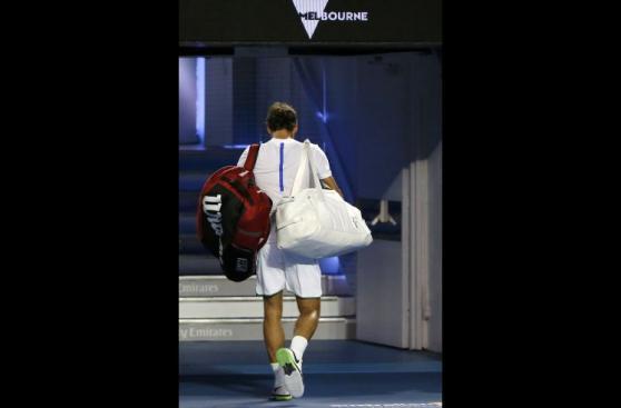 La tristeza de Federer: así se despidió de Australia [FOTOS]