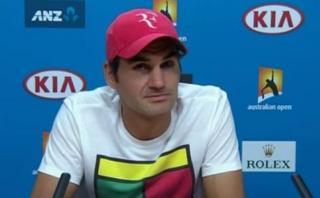 "Federer se incomodó por pregunta que calificó de ""estúpida"""