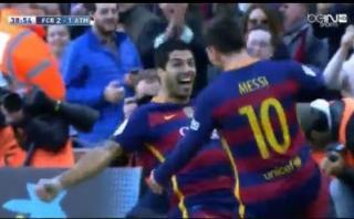 Luis Suárez marcó el 2-1 para Barcelona ante Atlético (VIDEO)