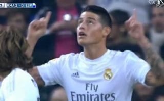 James Rodríguez anotó con Real Madrid luego de 3 meses (VIDEO)