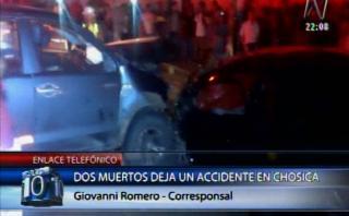 Chosica: 3 muertos y 5 heridos en choque en Carretera Central