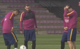Barcelona: el divertido reto de Neymar y Munir [VIDEO]