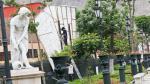 Alameda de los Descalzos: las esculturas siguen mutiladas - Noticias de ciudad alameda