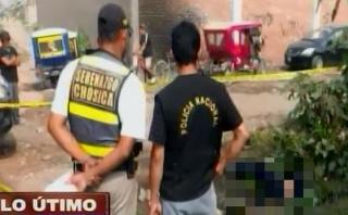 Chosica: hallan dos cadáveres en acequia en Av. Carapongo