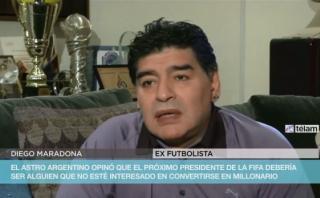 Maradona calificó de traidor a candidato a presidencia de FIFA