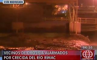 Vecinos de Chosica temen desborde por crecida de río Rímac