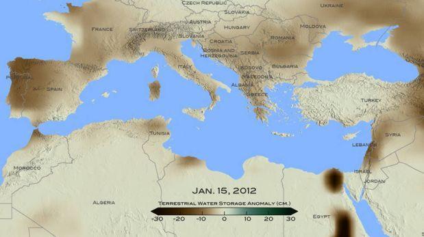 NASA: el Mediterráneo sufrió su peor sequía en 900 años