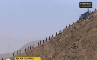Chosica: unos 200 invasores fueron desalojados de Carapongo