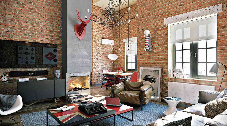 Utiliza ladrillos expuestos en tus paredes decoraci n - Decoracion ladrillo visto ...