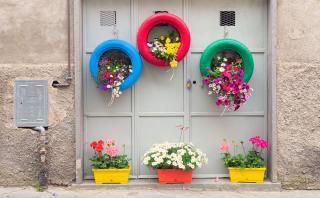 Incorpora llantas a tu decoración con estas creativas ideas