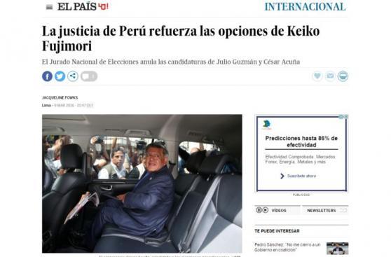 Guzmán y Acuña fuera: así informan medios internacionales