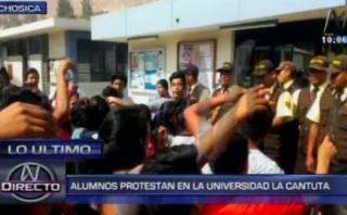 Chosica: más de 150 alumnos toman universidad La Cantuta