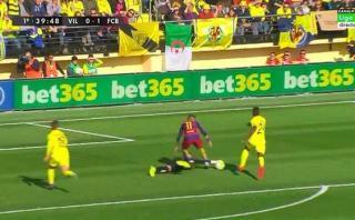 Neymar: este es el polémico penal contra el Villarreal [VIDEO]