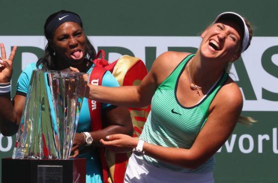 Azarenka ganó Indian Wells y Serena le hizo esta mueca [FOTOS]