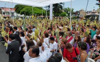 Surco: con entrega de mil palmas se celebró el Domingo de Ramos
