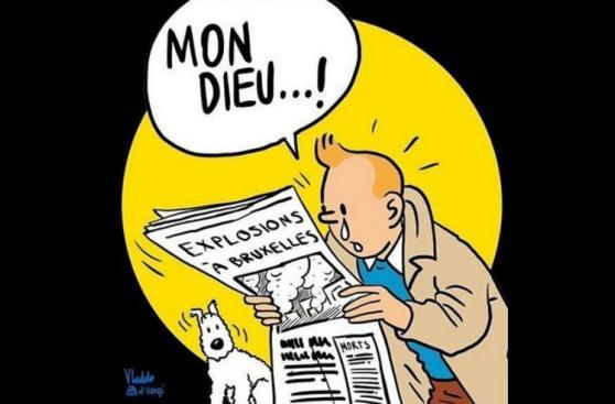 """Lágrimas de """"Tintín"""" se multiplican tras atentados de Bruselas"""