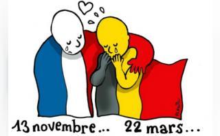 Con viñetas y cartoons rechazan los ataques en Bruselas