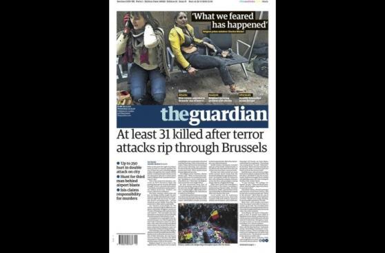 Los atentados en Bruselas en las portadas del mundo