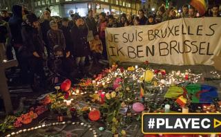 Bruselas se llena de mensajes de solidaridad tras los atentados