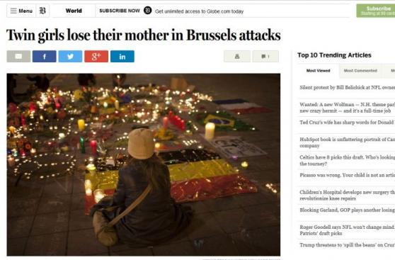 Historia de peruana fallecida en Bruselas conmueve al mundo