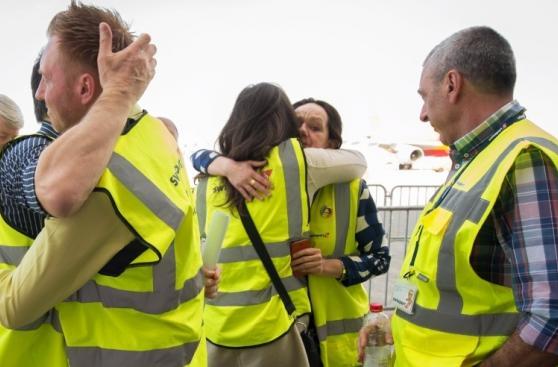 Palomas blancas, el avión símbolo del aeropuerto de Bruselas