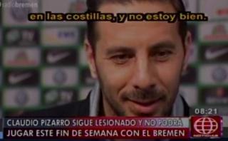 """Pizarro dice que """"no está bien"""", pero espera jugar el sábado"""