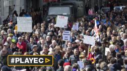 """Miles de musulmanes marchan contra """"el terror y el odio"""""""