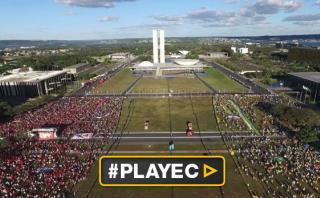 Un muro divide una Brasilia polarizada por Dilma Rousseff