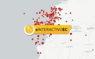 Estas son todas las réplicas del terremoto en Ecuador
