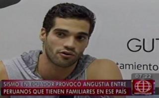 Guty Carrera perdió contacto con tía tras terremoto en Ecuador